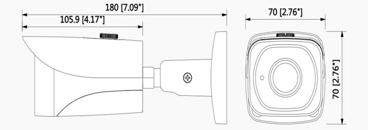 شمای فنی دوربین مدار بسته شبکه داهوا HFW 4231 EP-S