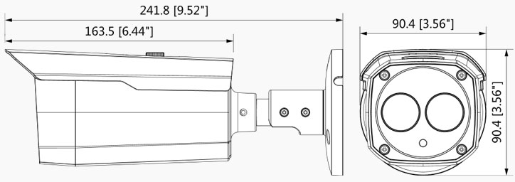 شمای فنی دوربین بالت داهوا HFW 1200BP-B
