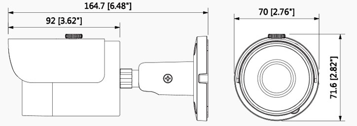 شمای فنی دوربین بالت داهوا HFW 1220SP