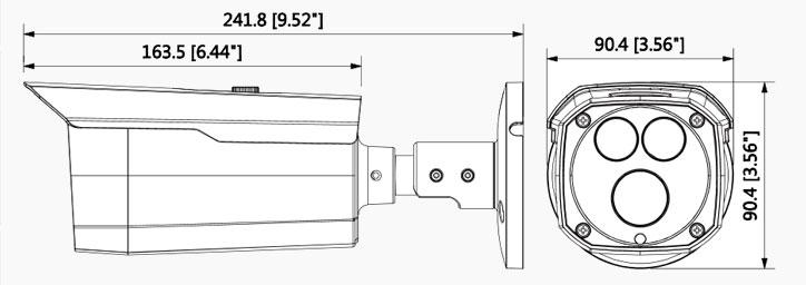 شمای فنی دوربین بالت داهو HFW 2221DP-0360B